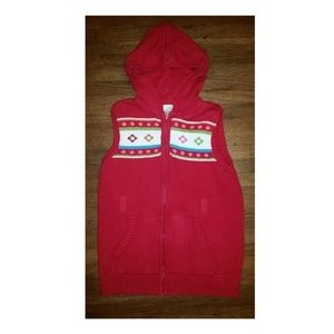 Gymboree Winter Cheer Sweater Hooded Jacket